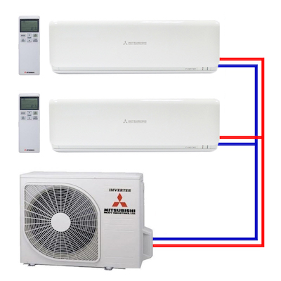 Multi-split airco in de basis.